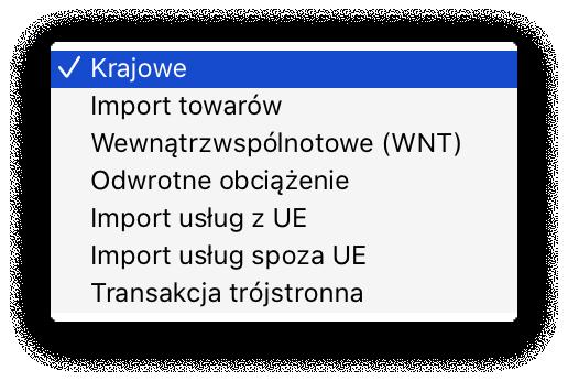 typ transakcji w JPK_V7