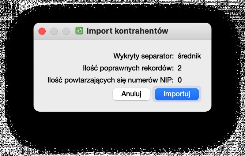 """""""import kontrahentów"""""""